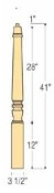 "Marion Starting Newel - 3 1/2"" x 41"" - C-4272"